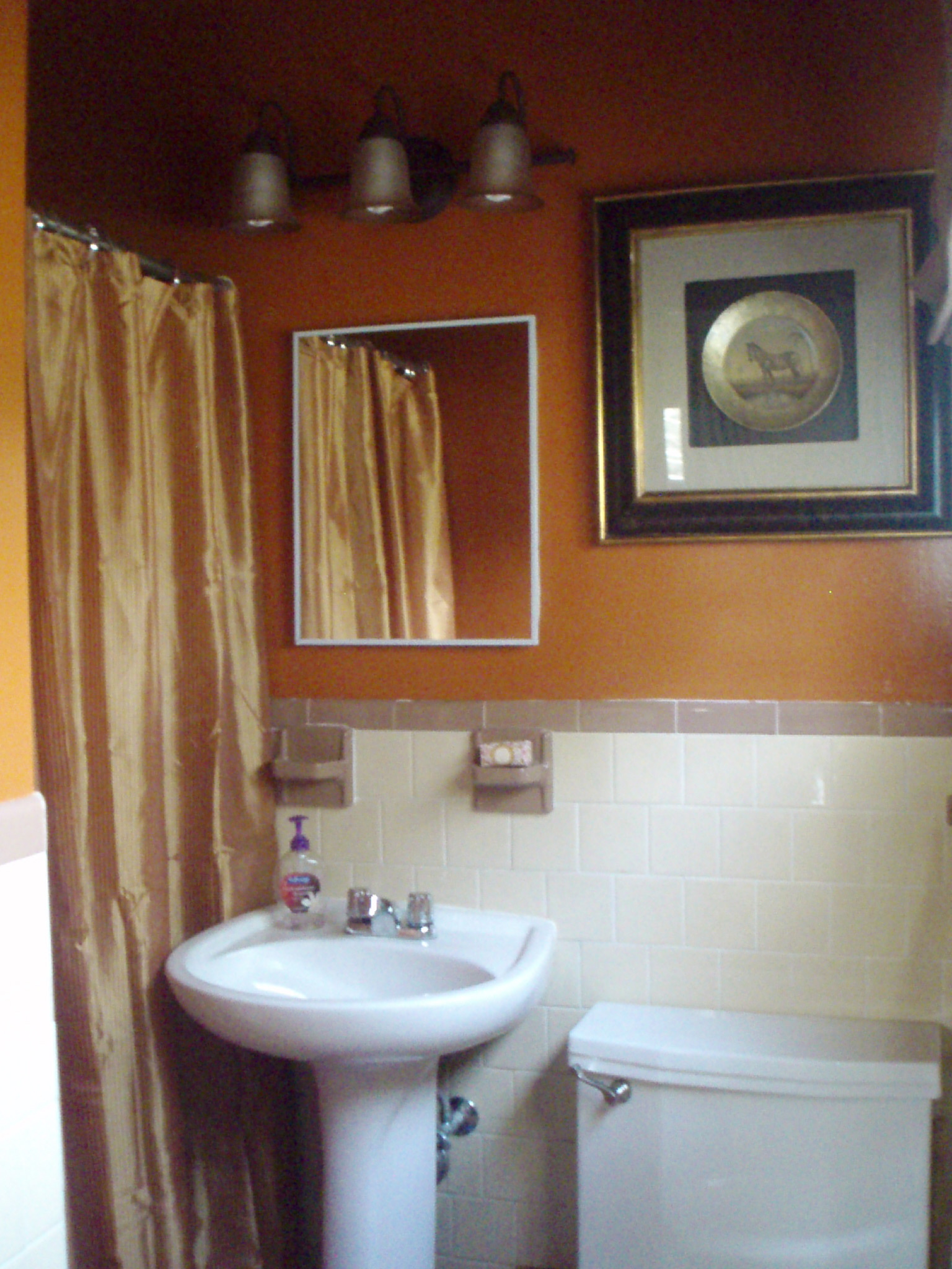 Orange You Glad Decorum DIYer - Valspar bathroom paint